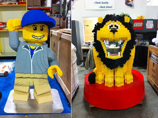 LEGO Model Minifigure and Duplo Lion