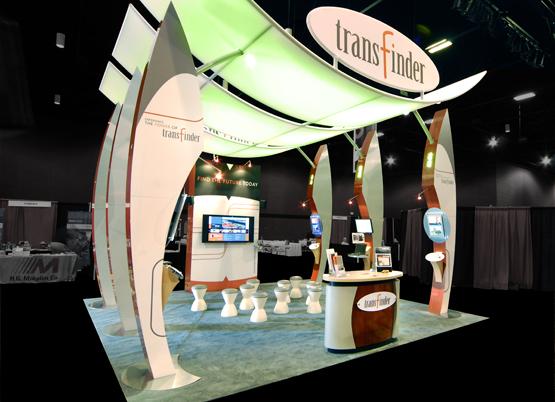 Transfinder trade show exhibit