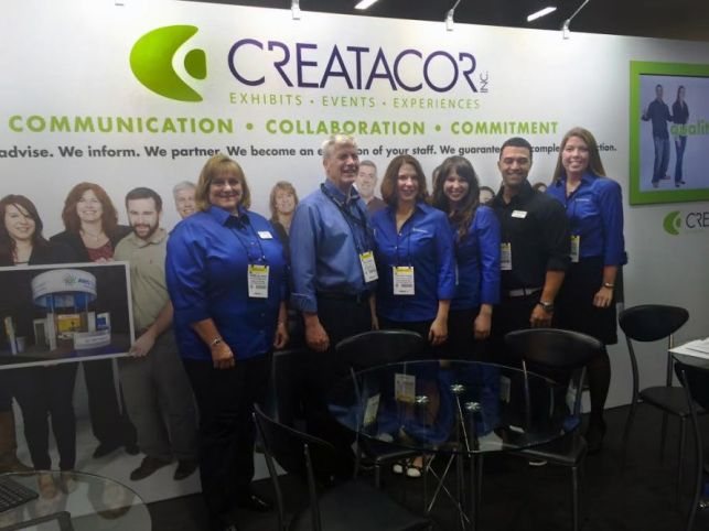 The Creatacor crew at the exhibit for EXHIBITORLIVE! 2015
