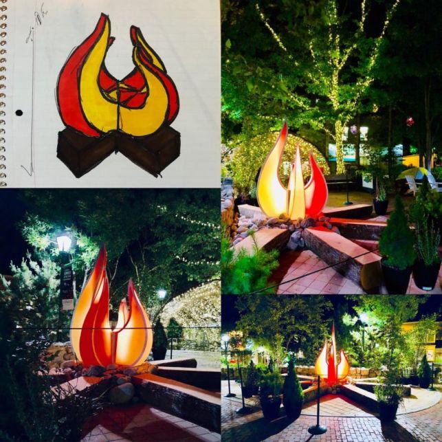 L.L. Bean flames