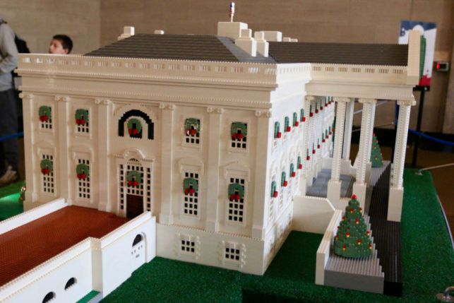 The LEGO® White House at the White House