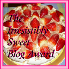 Irresisitibly Sweet Award