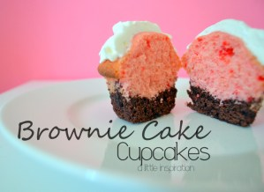 2-20-12 Brownie Cake Cupcakes - A Little Inspiration