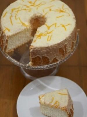 Orange Angel Food Cake - 21st Century Housewife - April J Harris