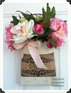 Garden Can Door Decor - Cherished Handmade Treasures