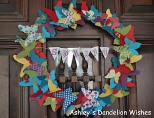 Butterfly Wreath - Ahsleys Dandelion Wishes