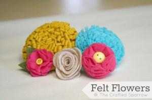 Felt Flowers Tutorial - The Crafted Sparrow