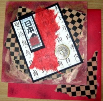 Asian Collage Card & Envelope at Create With Joy