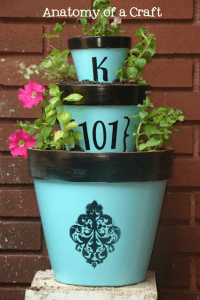 Anatamy Of A Craft - Painted Planter