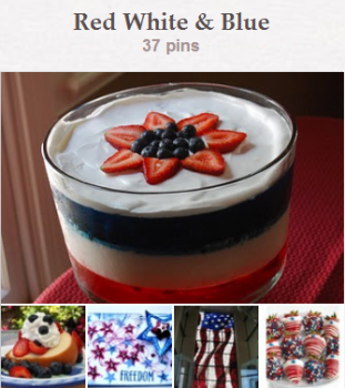 Red White & Blue Pinterest Board at CreateWithJoy1