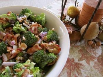Broccoli Raisin Salad - Cherry - Pursuing Heart