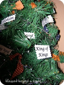 Blessed Beyond A Doubt - Names Of God Christmas Tree