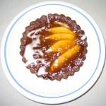Chocolate Pear Torte with Glazing
