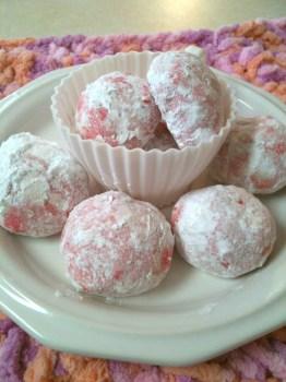 Pink Snowball Puffs