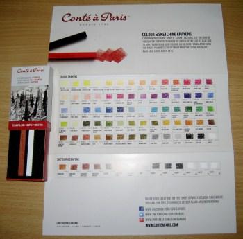 Conte A Paris Crayon Samples