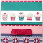 Cupcakes Glitter & Lace Card