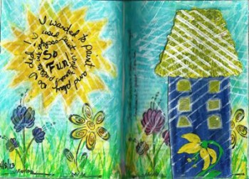 Boo - Art Journal Page