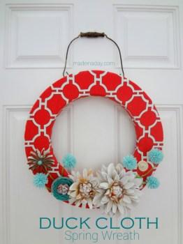 Duck Cloth Spring Wreath