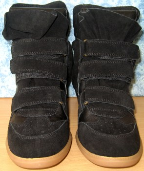Upere Wedge Sneakers Suede In Black