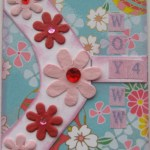 WOYWW 4 ATC - Pink Flowers