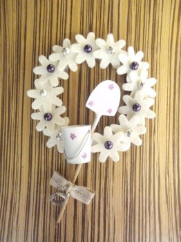 Flower Wreath - A Spoonful Of Crafts