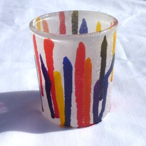 Drip Votive Candle - Painting Technique