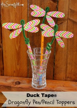 Duck Tape Dragon Fly Pen Pencil Toppers