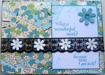 What A Wonderful World Card