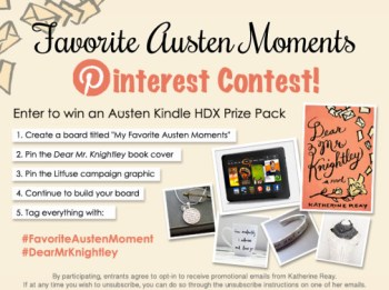 Dear Mister Knightley Pinterest Contest