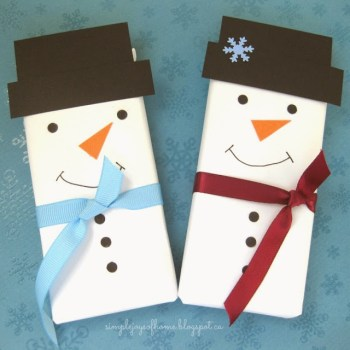 Snowman Chocolate Bars