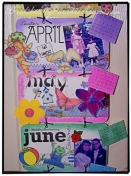 Scrapbook Style Calendar