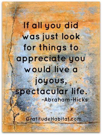 Be Appreciative