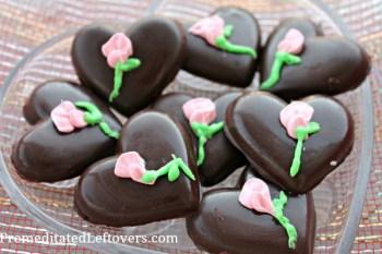 Dark Chocolate Truffle Hearts