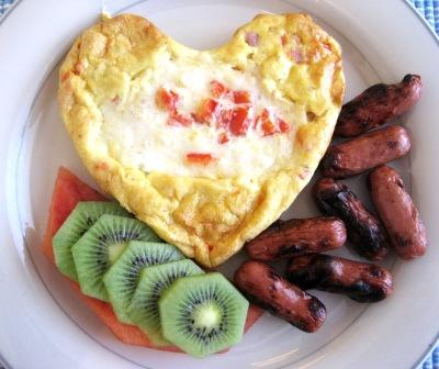 Heart-Shaped Frittatas - Create With Joy