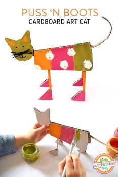Puss-N-Boots Cardboard Art Cat
