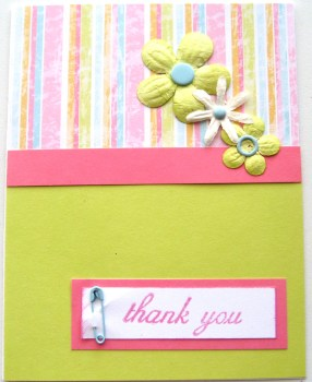 Spring Infused Thank You Card