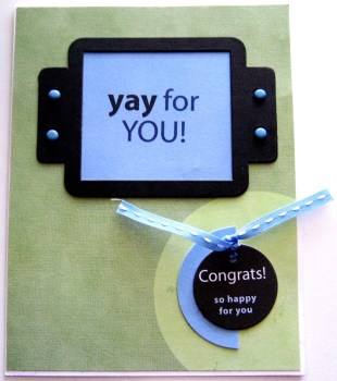 Congrats Card - Yay For You