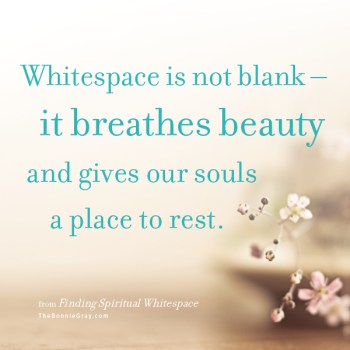 Whitespace breathes beauty