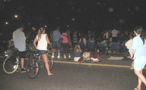 Wating For Fireworks - Road Shutdown