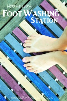 Foot Washing Station