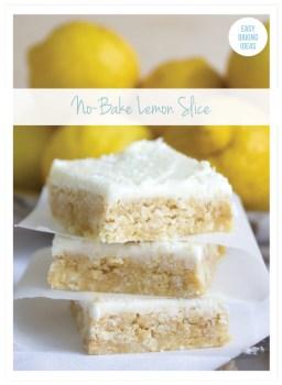 No Bake Lemon Slice Cake