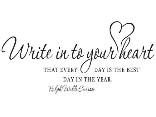 Write It To Your Heart
