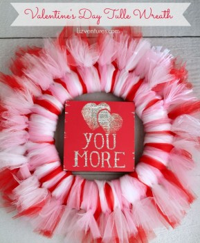 Valentines Tulle Wreath