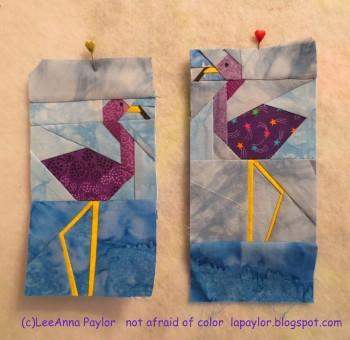 Purple Flamingos