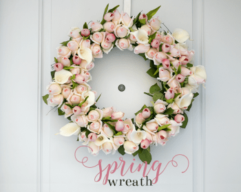 Spring Rosebud Wreath