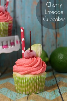 Cherry Lime Cupcakes