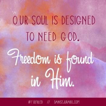 Fulfilled - We Need God