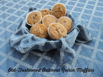 Old Fashioned Oatmeal Raisin Muffins