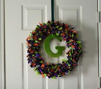 Fabric Strip Wreath