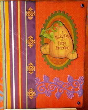A Harvest Of Happy Memories Card
